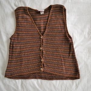 Vintage Cotton Knit Vest